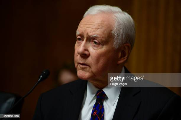 Senator Orrin Hatch speaks during the Senate Judiciary Committee during a hearing on 'Protecting and Promoting Music Creation for the 21st Century'...