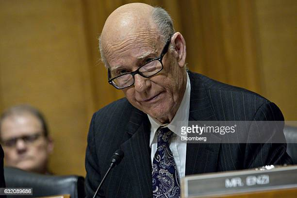 Senator Pat Roberts a Rebublican from Kansas speaks during a Senate Finance Committee confirmation hearing for Steven Mnuchin Treasury secretary...
