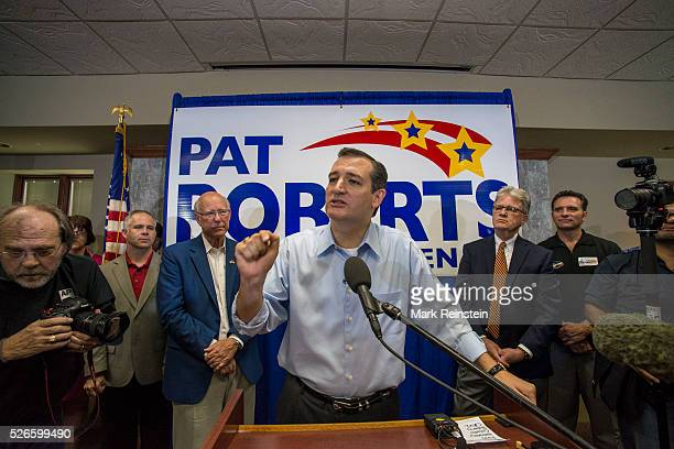 Senator Pat Roberts is joined today October 9 2014 by Senators Ted Cruz and Tom Coburn at rally in WIchita Sen Roberts is in a tight race against...