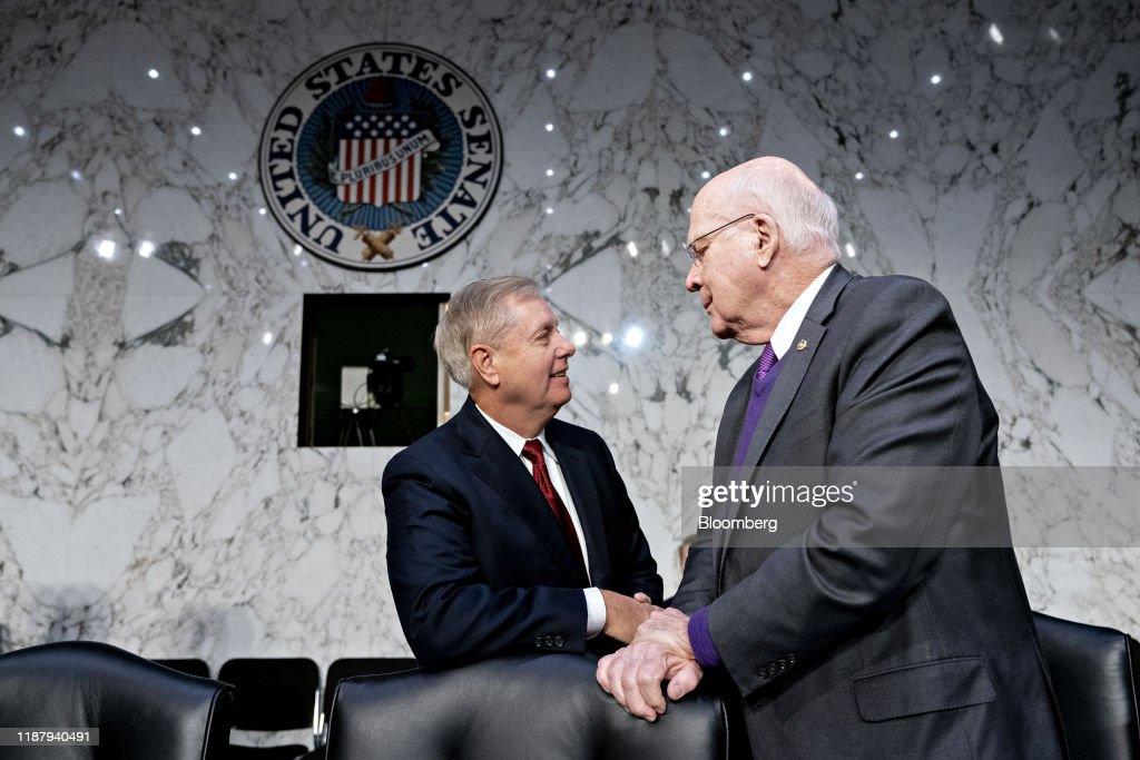 DOJ Inspector General Michael Horowitz Testifies Before Senate Judiciary Committee : News Photo