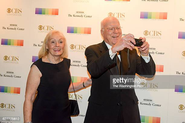 S Senator Patrick Leahy R and his wife Marcelle Pomerleau walk the red carpet at the 2016 Kennedy Center Honors at the Kennedy Center on Sunday...