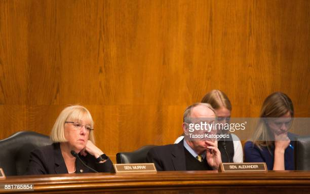 Senator Patty Murray and Chairman Lamar Alexander attends full committee hearing on the nomination of Alex Michael Azar II to be Health and Human...
