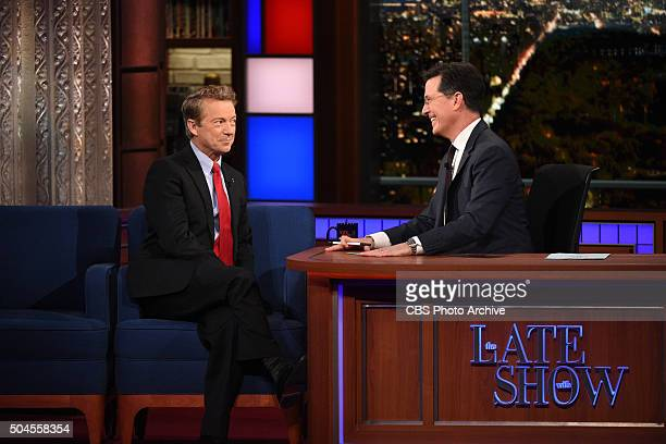 Senator Rand Paul on The Late Show with Stephen Colbert Wednesday Jan 6 2016 on the CBS Television Network