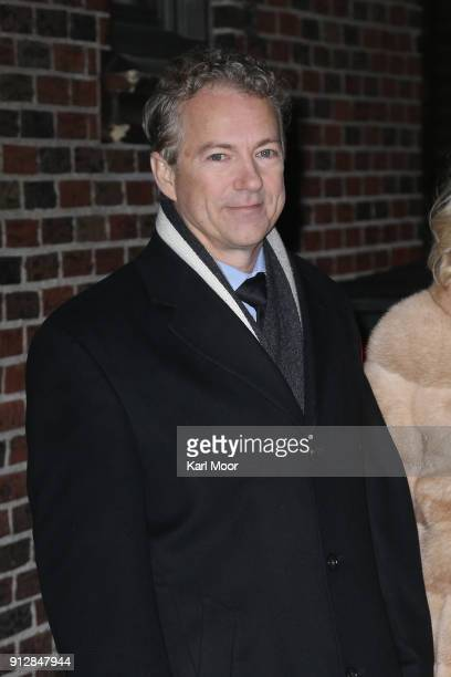 Senator Rand Paul R-KY departs after his taping of 'The Late Show With Stephen Colbert' at Ed Sullivan Theater on January 31, 2018 in New York City.