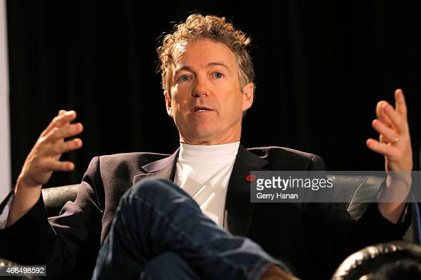 S Senator Rand Paul speaks onstage at 'A Conversation With Senator Rand Paul' during the 2015 SXSW Music Film Interactive Festival at JW Marriott on...