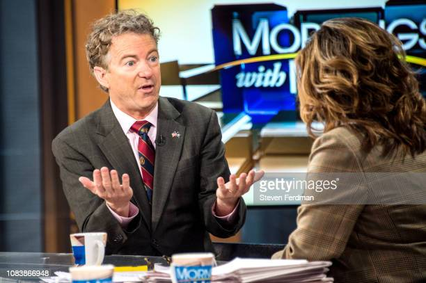 US Senator Rand Paul visits Mornings With Maria at Fox Business Network Studios on January 17 2019 in New York City