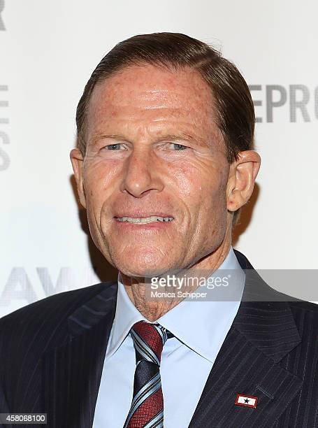 Senator Richard Blumenthal attends The Center For Reproductive Rights 2014 Gala at Jazz at Lincoln Center on October 29 2014 in New York City