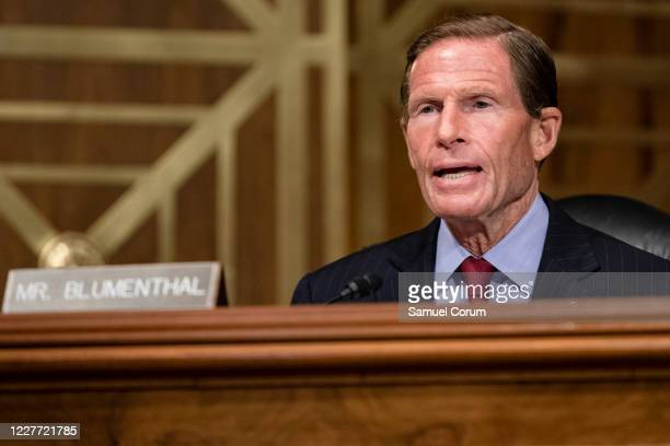 Senator Richard Blumenthal speaks during a Senate Special Committee of Aging hearing on The COVID19 Pandemic and Seniors A Look at Racial Health...