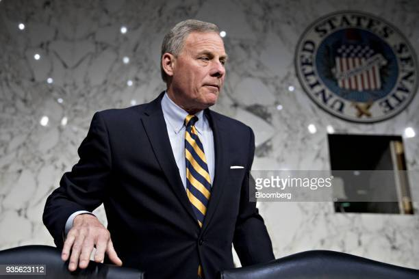 Senator Richard Burr a Republican from North Carolina and chairman of the Senate Intelligence Committee arrives to a hearing on election security in...