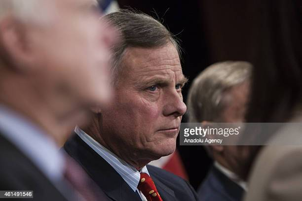 Senator Richard Burr attends a press conference with Senator Lindsey Graham , Senator John McCain , and Senator Kelly Ayotte to announce new proposed...