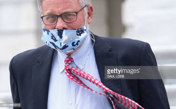 Senator Richard Burr, Republican of North Carolina, leaves after a vote at US Capitol in Washington, DC, May 14, 2020. - Burr, chairman of the...