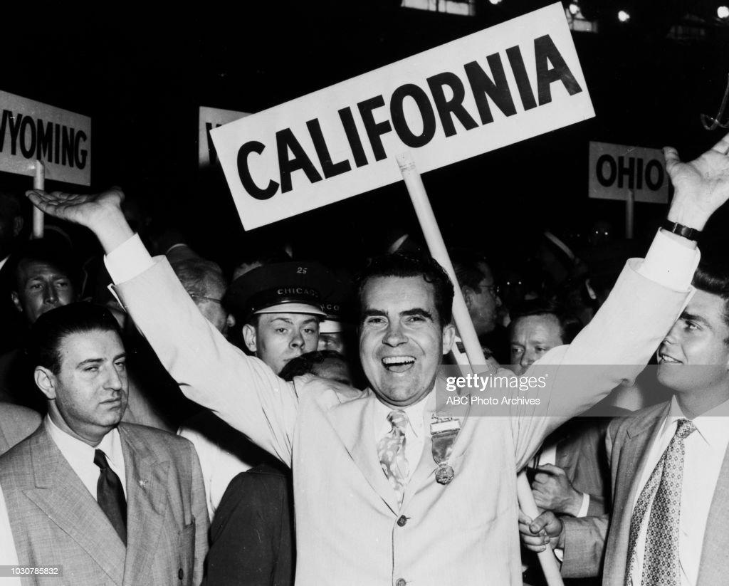 Richard Nixon During The 1952 Campaign : News Photo