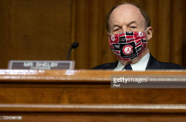 Senator Richard Shelby, Republican of Alabama, attends a US Senate Appropriations subcommittee hearing on the plan to research, manufacture and...