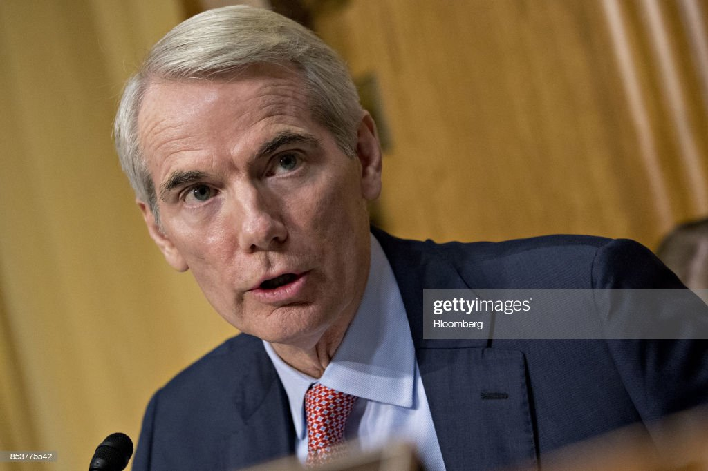 Senator Rob Portman, a Republican from Ohio, speaks during a Senate Finance Committee hearing to consider the Graham-Cassidy-Heller-Johnson proposal in Washington, D.C., U.S., on Monday, Sept. 25, 2017. Senators sponsoring a last-ditch Obamacare repeal bill raced to save it from near-certain death Sunday, circulating a new version aimed at winning over several GOP holdouts. Photographer: Andrew Harrer/Bloomberg via Getty Images