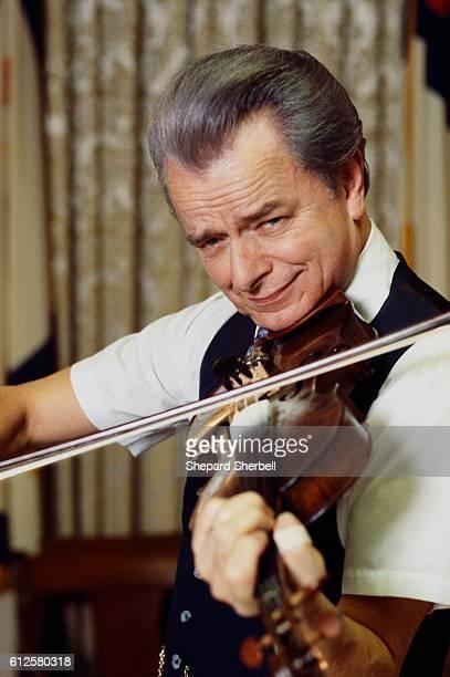Senator Robert Byrd Playing Fiddle