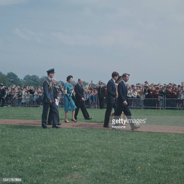 Senator Robert F. Kennedy attends the unveiling of a memorial to his brother, assassinated US President John F. Kennedy at Runnymede in Surrey,...