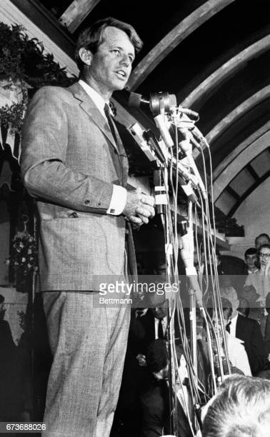 Senator Robert F Kennedy formally entered the Indiana presidential primary against Senator Eugene McCarthy and Governor Roger Branigin's stand in for...