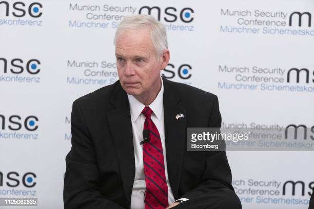 Senator Ron Johnson a Republican from Wisconsin listens during a panel discussion on the opening day of the Munich Security Conference in Munich...