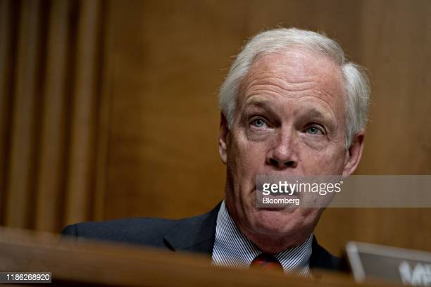 Senator Ron Johnson a Republican from Wisconsin question witnesses during a Senate Foreign Relations Committee hearing in Washington DC US on Tuesday...