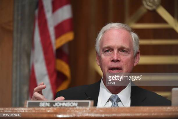 Senator Ron Johnson questions Chad Wolf acting Secretary of Homeland Security appears before the Senate Homeland Security and Governmental Affairs...