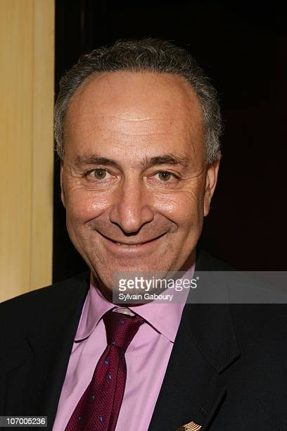Senator Schumer during Harvey Weinstein Hosts a Private Dinner and Screening of Bobby for Senators Obama and Schumer at Plaza Athenee at 37 East 64th...