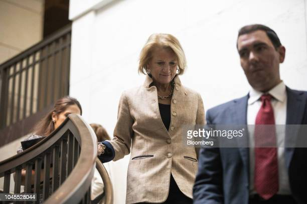Senator Shelley Moore Capito a Republican from West Virginia arrives at the Office of Senate Security on Capitol Hill in Washington DC US on Thursday...