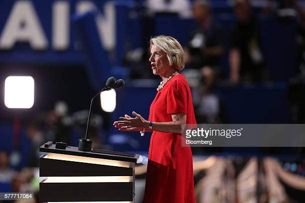 Senator Shelley Moore Capito a Republican from West Virginia speaks during the Republican National Convention in Cleveland Ohio US on Tuesday July 19...