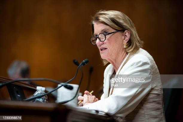Senator Shelley Moore Capito speaks during a Senate Appropriations Subcommittee hearing on June 9, 2021 at the U.S. Capitol in Washington, D.C. The...