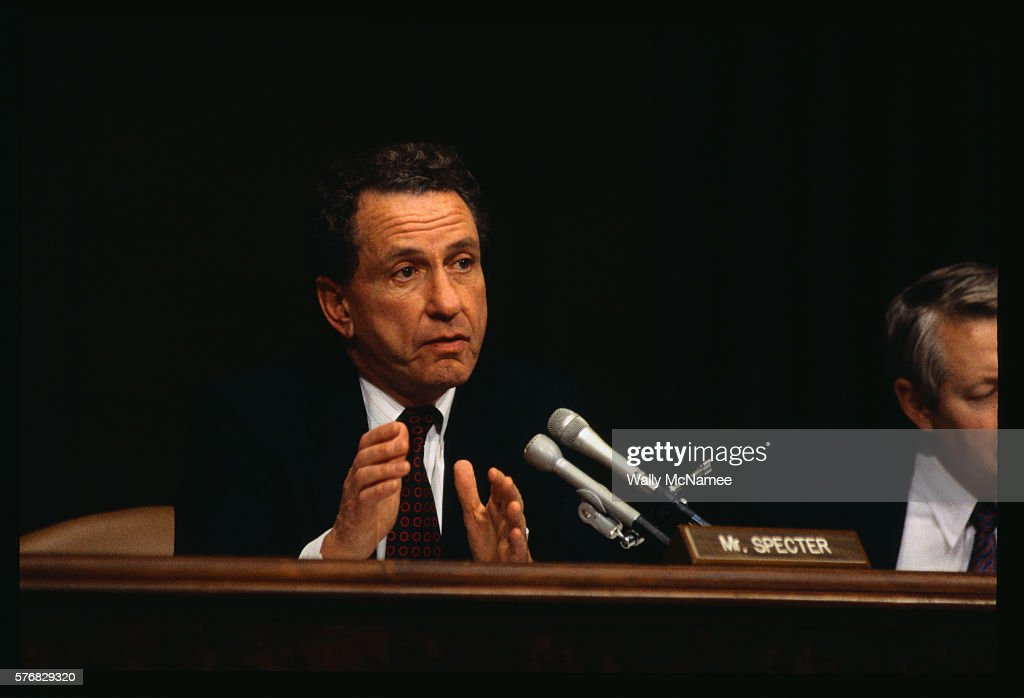 Senator Specter questions Janet Reno at the hearing on her nomination to the position of Attorney General.
