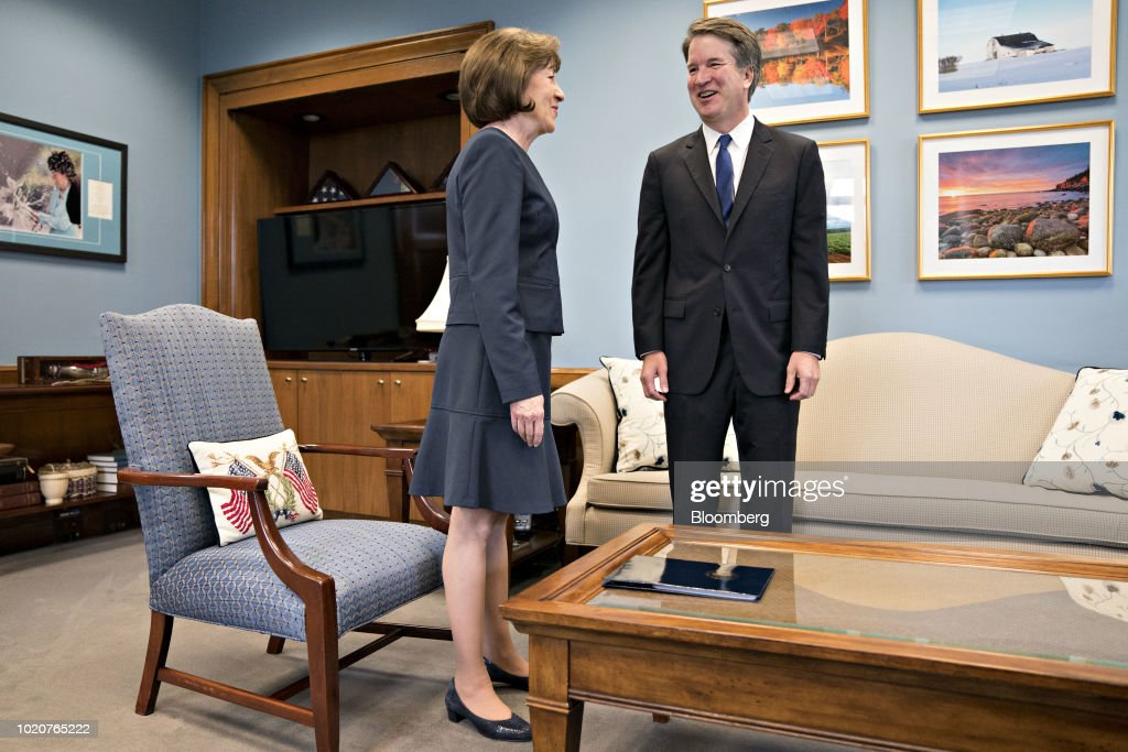 Senator Susan Collins Meets With Supreme Court Nominee Brett Kavanaugh