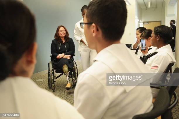 S Senator Tammy Duckworth participates in a citizenship ceremony on September 15 2017 in Chicago Illinois In Recognition of Constitution Day and...