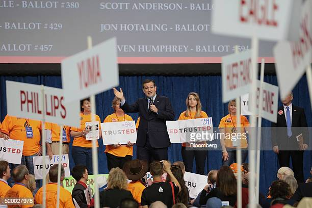 Senator Ted Cruz a Republican from Texas and 2016 presidential candidate speaks during the Colorado Republican State Convention in Colorado Springs...