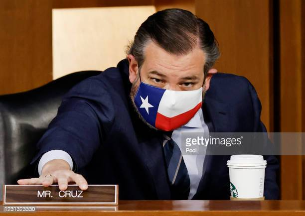 Senator Ted Cruz attends the confirmation hearing for Merrick Garland, nominee for U.S. Attorney General, before the Senate Judiciary Committee...