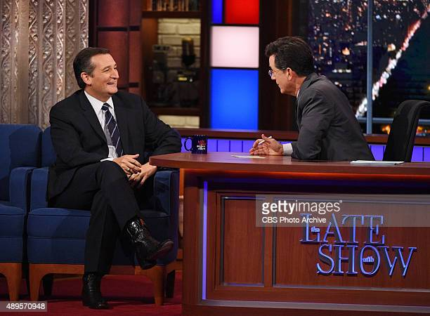 Senator Ted Cruz on The Late Show with Stephen Colbert Monday Sept 21 2015 on the CBS Television Network