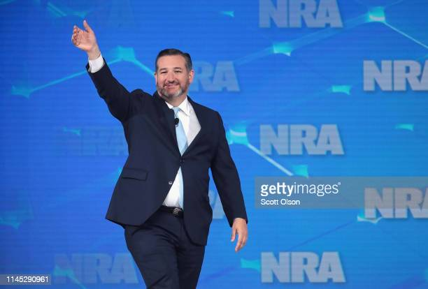 Senator Ted Cruz speaks to guests during the NRAILA Leadership Forum at the 148th NRA Annual Meetings Exhibits on April 26 2019 in Indianapolis...