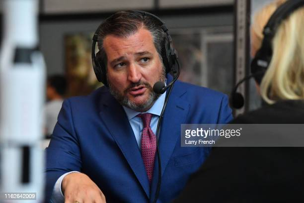 Senator Ted Cruz talks with SiriusXM host Julie Mason at The National Air and Space Museum on July 17 2019 in Washington DC