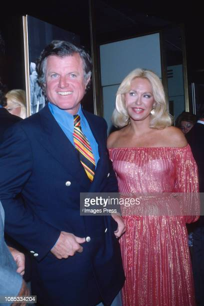 Senator Ted Kennedy and wife Joan Bennett Kennedy attends the reception for the annual Robert F Kennedy ProCelebrity Tennis Tournament at The Rainbow...