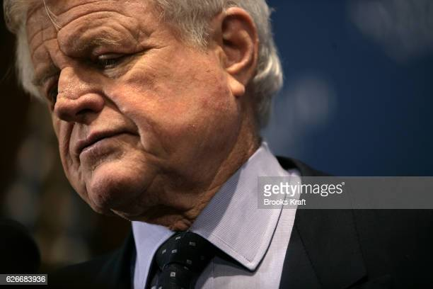 Senator Ted Kennedy speaks on the U.S. Involvement in Iraq at the National Press Club in Washington, DC. Kennedy said during his remarks that he...