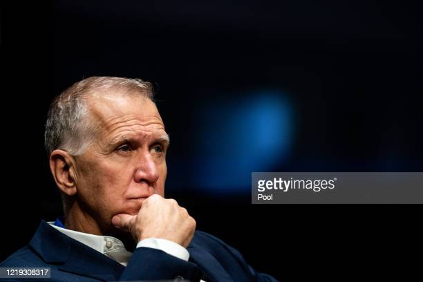 Senator Thom Tillis attends a Senate Judiciary Committee business meeting to consider authorization for subpoenas relating to the Crossfire Hurricane...