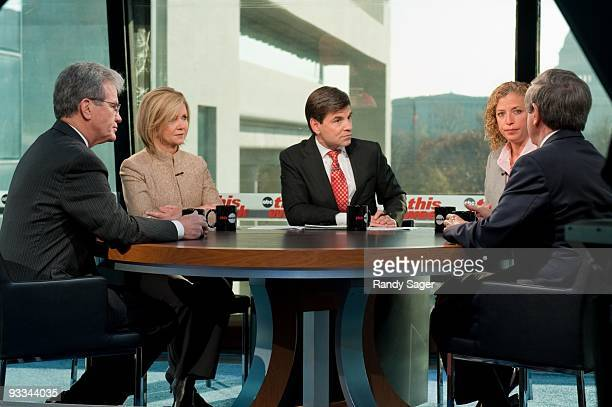 WEEK Senator Tom Coburn Congresswomen Marsha Blackburn Representative Debbie Wasserman Schultz and Senator Ben Nelson talk with George Stephanopoulos...