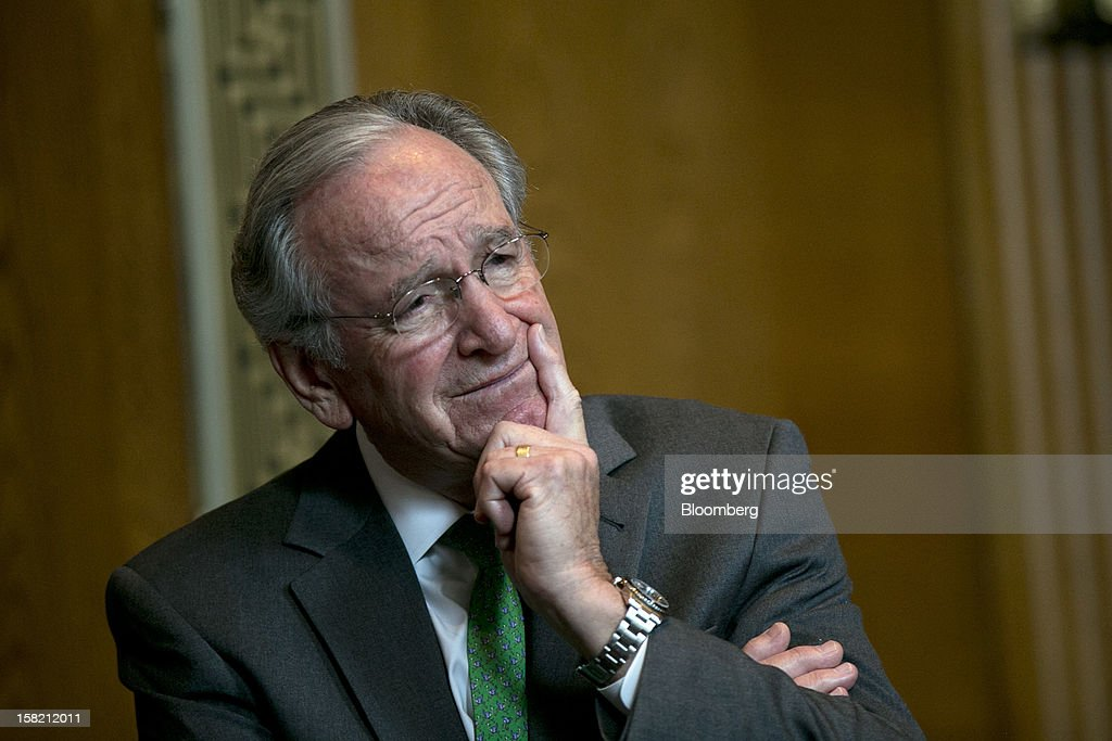 Senator Tom Harkin, a Democrat from Iowa, listens during a news conference in Washington, D.C. U.S., on Tuesday, Dec. 11, 2012. Democratic lawmakers want Medicaid funding protected in the fiscal cliff talks. Photographer: Andrew Harrer/Bloomberg via Getty Images