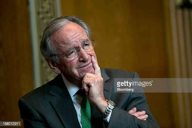Senator Tom Harkin a Democrat from Iowa listens during a news conference in Washington DC US on Tuesday Dec 11 2012 Democratic lawmakers want...