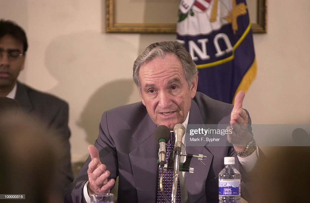 Senator Tom Harkin (D-IA) angrily questions witnessess James Caruso (FBI) and Dr. Jeffery Koplan (CDC), on the somewhat lax defense America has against bio-terrorism, citing excerpts from Tuesdays Washington Post, in a Health and Human Services and Education Subcommittee hearing on anthrax and bioterrorism.