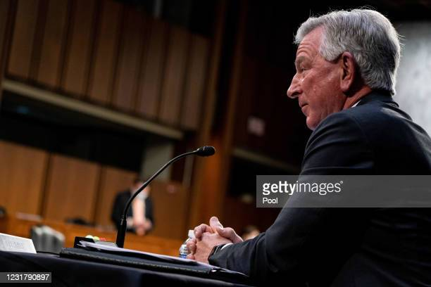 Senator Tommy Tuberville, R-Ala., speaks during a hearing with the Senate Committee on Health, Education, Labor, and Pensions, on the Covid-19...