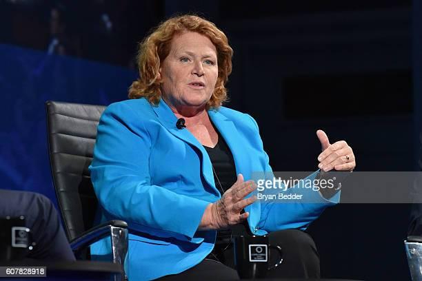 Senator United States Senate Heidi Heitkamp attends 2016 Concordia Summit Day 1 at Grand Hyatt New York on September 19 2016 in New York City