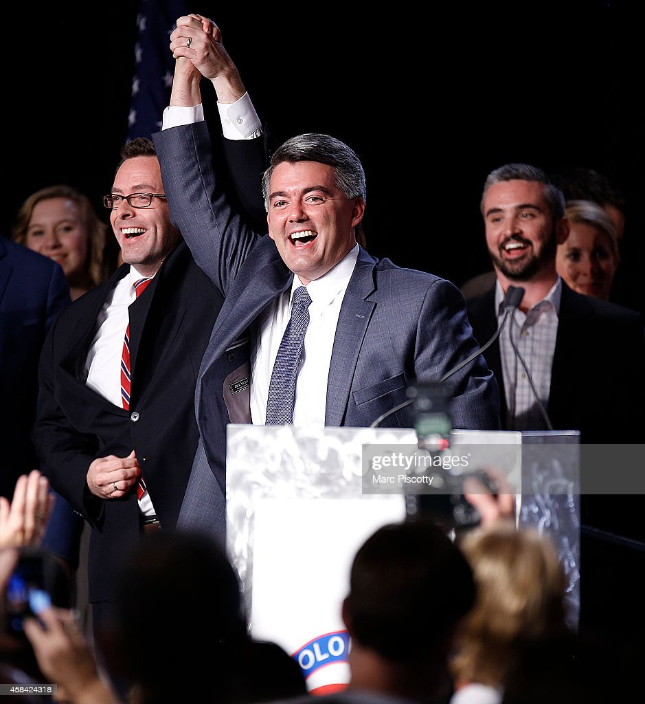 GOP Challenger For Colorado's Senate Seat Cory Gardner Attends Election Night Rally