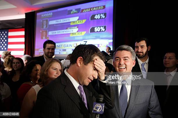 S Senatorelect Cory Gardner speaks to the media after being declared the winner in the race at the Colorado Republican party's election night event...