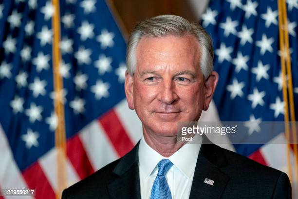 Senator-elect Tommy Tuberville meets with the media on November 9, 2020 in Washington, DC. The Senate is reconvening for the first time after the...