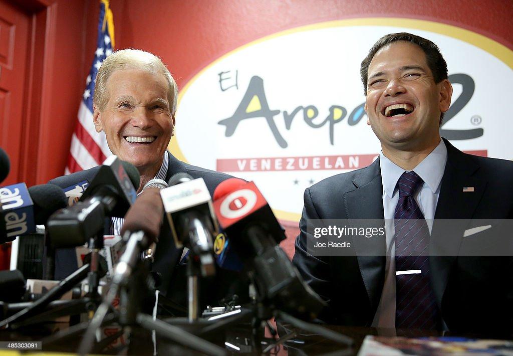 Sens. Rubio  And Nelson  Meet With Members Of Miami-Area Venezuelan Community