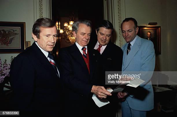 Senators Howard Baker Frank Church Dennis DeConcini and Robert Byrd